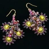 Minđuše – zvezdasto-cvetni oblik nanizanih perlica