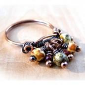Prsten sa prelepim sedefastim visećim dodacima